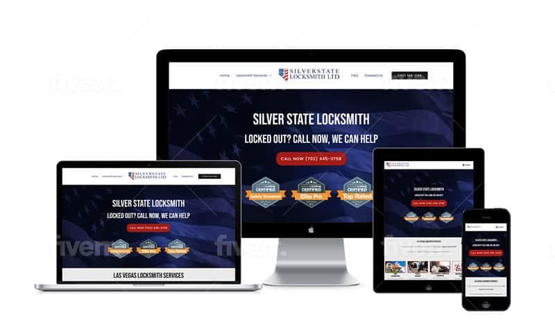 Locksmith Website Design Examples